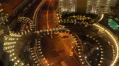 apartment buildings : overhead speedway timelapse Stock Footage