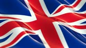 union : Flag of the United Kingdom of Great Britain waving in the wind - seamless loop Stock Footage