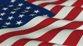icon : Flag of the USA slowly waving in the wind - seamless loop Stock Footage