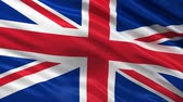 wind : Seamless UK Flag waving in the wind Stock Footage