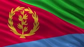 waving : Flag of Eritrea waving in the wind - seamless loop