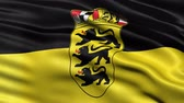 brasão : Seamless loop of Baden-Wuerttemberg state flag in Germany waving in the wind. Realistic loop with highly detailed fabric.