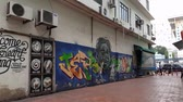 parede : A mural in  a street of Kluang Johor Malaysia. a new attraction to tourist