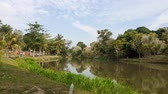 street view : A lake in kluang town, johor malaysia