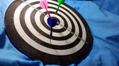 flechette : dart board on   blue background. video taken in malaysia