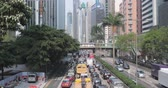 taksi : HONG KONG, CHINA - APRIL 29, 2017: Traffic Jam Congestion During Rush Hour in Hong Kong, China.