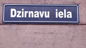 scandinavie : Dzirnavu Street Sign Riga Lettonie