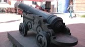 ordnance : Old Riga antique cannon 2 Stock Footage