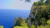 falésias : Sea view from the island of Capri Italy