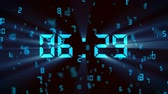 alarm : falling digital countdown Stock Footage