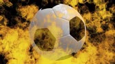 fogueira : soccerball on fire Stock Footage