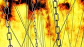fundo preto : zooming through chains on fire