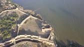 bastião : Aerial view on the citadel of the ancient fortress Akkerman which is on the bank of the Dniester estuary, in Odessa region.
