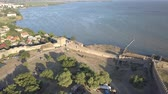 odessza : Aerial view on the citadel of the ancient fortress Akkerman which is on the bank of the Dniester estuary, in Odessa region.