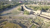 bástya : Aerial view on the citadel of the ancient fortress Akkerman which is on the bank of the Dniester estuary, in Odessa region.
