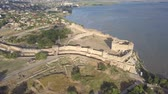 obrana : Aerial view on the citadel of the ancient fortress Akkerman which is on the bank of the Dniester estuary, in Odessa region.