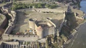 bastião : Aerial view on citadel of the ancient fortress Akkerman which is on the bank of the Dniester estuary, in Odessa region, Ukraine