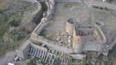 obrana : Aerial view on citadel of the ancient fortress Akkerman which is on the bank of the Dniester estuary, in Odessa region, Ukraine