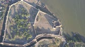 bástya : Aerial view on citadel of the ancient fortress Akkerman which is on the bank of the Dniester estuary, in Odessa region, Ukraine