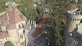 bástya : Aerial view to Bory Var, graceful castle built by one man Bory Jeno in the Szekesfehervar, Hungary