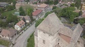 bástya : Aerial drone view to medieval castle of Simontornya, Hungary