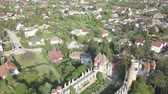 romanesk : Aerial view to Bory Var, graceful castle built by one man Bory Jeno in the Szekesfehervar, Hungary