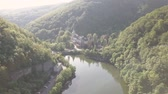 bástya : Aerial view to lake near by Lillafured Castle, near Miskolc in the Eastern part of Bukk Mountains
