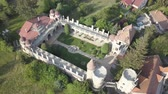 konak : Aerial view to Bory Var, graceful castle built by one man Bory Jeno in the Szekesfehervar, Hungary