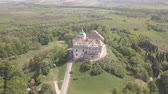 ilham vermek : Aerial view from drone to the historic castle and park in Olesko - famous ukrainian sightseeing, Lviv region, Ukraine