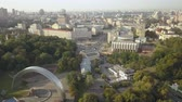 independence square : Philharmonic, Khreshchatyk street and European Square in Kyiv, Ukraine