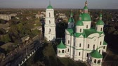 православный : Blessed Virgin in Kozelets, Chernihiv region, Ukraine Стоковые видеозаписи