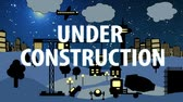 Construction Site Cartoon Night with Text