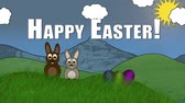 Happy Easter (Bunnies in Landscape)