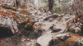 A POV video of an hiker walking on trekking trail in Nepal