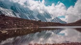 Reflections of the mountain in a lake