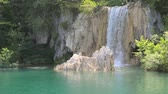 Waterfall in Plitvice National Park in Croatia