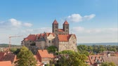 quedlinburg : Time-lapse video of castle and church in Quedlinburg, Germany Stock Footage