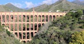 sol : Acueducto del Aguila (Eagle Aqueduct) located near Nerja, Andalusia, Spain Stock Footage