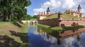 corner : Panoramic view on Nesvizh Castle from the corner, Belarus