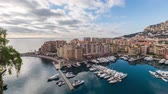fontvieille : Panoramic time lapse video of port Fontvieille in Monaco