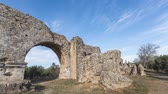 fontvieille : Barbegal aqueduct near Arles, France (time lapse video)