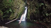 Salto do Cagarrao Waterfall located on Prego river, Sao Miguel Island, Azores, Portugal