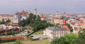 Aerial panorama of Lublin, Poland
