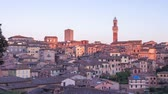 toscana : Day to night time lapse cityscape of Siena, Tuscany, Italy