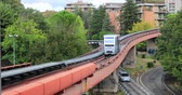 Perugia, Italy - October 01 2018: Carriage of Minimetro - a cable propelled automated people mover system
