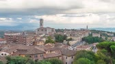cathedral : Cityscape of Perugia with basilica of  San Domenico, Italy