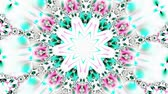 psychedelic pattern : Blue and white kaleidoscope
