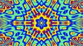 psychedelic pattern : Blue and yellow kaleidoscope