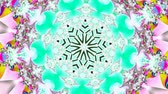 psychedelic pattern : Green and white kaleidoscope