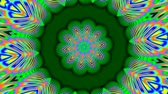 psychedelic pattern : Green kaleidoscope Stock Footage